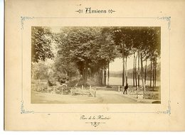 PHOTOGRAPHIE SUR CARTON FORT DEBUT 20è SIECLE. AMIENS. PARC DE LA HAUTOIE - Orte