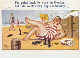 """Donald McGil. I'm Going Back To Work On Monday""  Humorous Vintage English Postcard - Mc Gill, Donald"