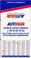 Calendrier °° 1998 - Autosur 24 - Périgueux - Autobilan - 6x9 - 3 Volets - LUXE - Calendriers