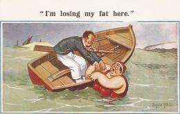 """Donald McGill. I'm Losing  My Fat Here.""  The Milton Series For Comic PC # 1524 - Mc Gill, Donald"