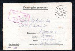 KRIEGSGEFANGENENPOST NAZI GERMANY THIRD REICH WW2 PRISONER OF WAR POW CAMP OFLAG IIC WOLDENBERG DOBIEGNIEW SANDOMIERZ GG - Gevangenkampen