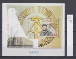 91K87 / 1989 - Michel Nr. Block 100 ( ** ) 40. Jahre Deutsche Demokratische Republik Mit Dem Spitteleck , DDR , Germany - Blocs