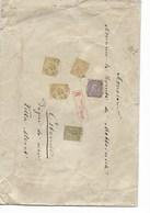 SH 0313. N° 47-48-50(3- 1 Déft.)BRUXELLES (LUX.)14 JUIL 90 S/L.RECOMMANDEE 242 Gr/17 P.v.Comte Metternich/OSTENDE.Défts. - 1884-1891 Leopold II