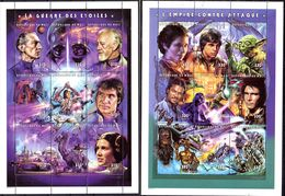 1977; Star Wars 2 Kleinbögen Krieg Der Sterne Und Das Imperium Schlägt Zurück; Mail, Posfrisch, Los 52290 - Cinéma