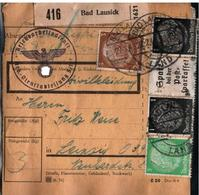 ! 1943 Paketkarte Bad Lausick Nach Leipzig In Sachsen, R.A.D. Lager, Reichsarbeitsdienst - Germania