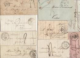 Lot De 50 Plis Du 19° Siecles Avec Marques Postales Cachet à Dates Type 11, 12, 13, 14  Avec Ou Sans Texte - Marcofilie (Brieven)
