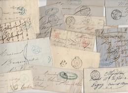 Lot De 50 Plis Du 19° Siecles Avec Marques Postales Et Cachet à Dates De PARIS  Avec Ou Sans Texte - Marcofilie (Brieven)