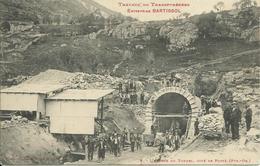 66)   PORTE    - Travaux  Du  Transpyrénéen  Entreprise   Bartissol  -  L'entrée Du  Tunnel - Coté Porté - Autres Communes