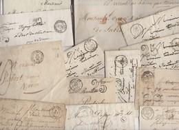 Lot De 80 Plis Du 19° Siecles Avec Marques Postales Cachet à Dates Type 15  Avec Ou Sans Texte - Marcofilie (Brieven)