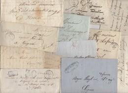 Lot De 100 Plis Du 19° Siecles Avec Marques Postales Cachet à Dates Type 15  Avec Ou Sans Texte - Marcofilie (Brieven)