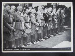 Postkarte Propaganda Reichsparteitag Nürnberg Rosenberg Frick Goebbels Ley Himmler Hitler Hess Lutze - Germany