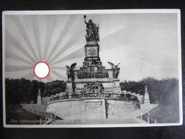 Postkarte Propaganda Aufgehende Sonne Nationaldenkmal Rüdesheim - Erhaltung II - Allemagne