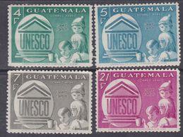 Guatemala PA N° 385 / 88 X : 20è Anniversaire De L' U.N.E.S.C.O., La Série Des 4 Valeurs Trace De Charnière Sinon TB - Guatemala
