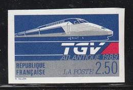 FRANCE - NON DENTELE - N°2607a ** (1989) TGV Atlantique - Non Dentellati