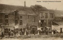 RPCP : , Soignies, Brasserie Fédérale, Photo D'une Ancienne CP. 2 Scans - Beroepen
