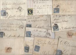 Lot De 35 Plis Lettres Classiques D'ESPAGNE Période Isabelle II  Avec Ou Sans Texte - 1850-68 Royaume: Isabelle II