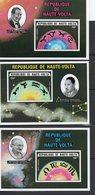 """République De Haute Volta - 3 Feuillets Poste Aérienne """" Signes Astrologiques  """"  Neuf - Obervolta (1958-1984)"""