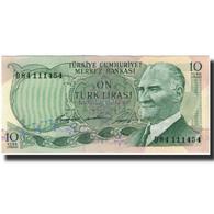 Billet, Turquie, 10 Lira, KM:180, TTB+ - Turchia