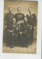 MILITARIA - TOULON - MARINE FRANÇAISE - Belle Carte Photo Militaires Officiers Avec Médailles - Par Photo.ALPH LEENAERTS - Toulon