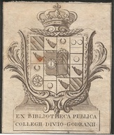 Ex-libris Héraldique Collège Des Godrans De DIJON. XVIIIe Siècle. Bourgogne. - Ex-libris