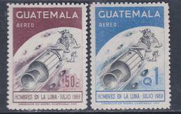 Guatemala PA N° 449 / 50 XX : Premier Homme Sur La Lune Les 2 Valeurs Sans Charnière, TB - Guatemala