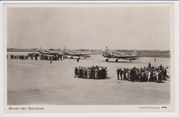 Vintage Rppc KLM K.L.M Royal Dutch Airlines Douglas Dc-2 @ Schiphol Airport - 1946-....: Era Moderna