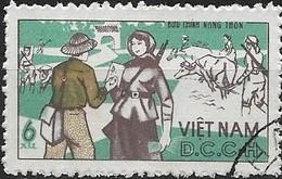 VIETNAM (NORTH) 1966 Official - Rural Service - 6x Postman Delivering Letter FU - Vietnam
