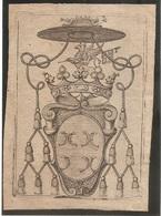 Ex-libris Héraldique Claude-François BELLIS DE ROAIX (†1749). Avignon, Comtat-Venaissin, France - Ex Libris
