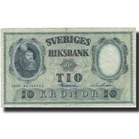 Billet, Suède, 10 Kronor, 1959, 1959, KM:43g, TB - Suède