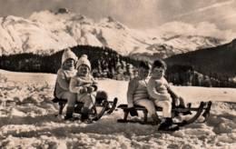 CPSM - PAYSAGE MONTAGNE SUISSE - ENFANTS Sur Des LUGES - Edition Wehrli AG. - Szenen & Landschaften