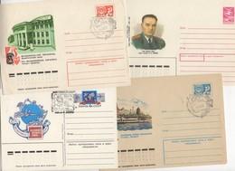 Lot De 8 Enveloppes Et 2 Télégrammes De Russie - 1923-1991 USSR