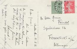 TARIF 1 Aôut 1926 Carte Postale - Semeuse N°194 + 198 Chartres 25 Août 1926 - CP Chartres - Posttarife