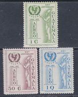 Guatemala PA N° 471 / 73 XX : 25è Anniversaire De L' U.N.I.C.E.F.  Les 3 Valeurs Sans Charnière, TB - Guatemala
