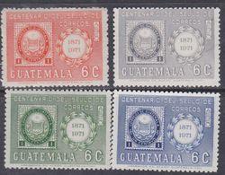 Guatemala PA N° 573 / 74 + 623 / 24 XX : Centenaire Du Timbre De Guatelama Les 4 Valeurs Sans Charnière, TB - Guatemala