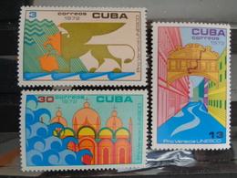 CUBA 1972 MICH. N° 1828 à 1830 ** - SAUVEZ VENISE - Ongebruikt