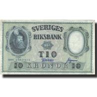 Billet, Suède, 10 Kronor, 1959, 1959, KM:43g, TTB - Suède