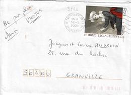 TP N° 3526 Seul Sur Enveloppe De Paris Daumesnil - Postmark Collection (Covers)