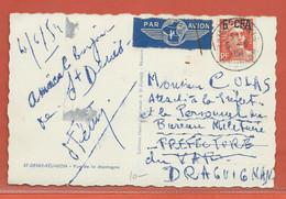 REUNION CARTE POSTALE AFFRANCHIE DE 1954 DE SAINT DENIS POUR DRAGUIGNAN FRANCE - Isola Di Rèunion (1852-1975)