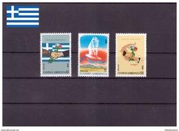 Grèce 1990 - MNH ** - Fleurs - Paix - Drapeaux - Michel Nr. 1744-1746 Série Complète (gre805) - Grèce