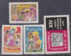 Guatemala PA N° 627 / 30 XX : Les 4 Valeurs Sans Charnière, TB - Guatemala