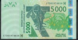 W.A.S. NIGER  P617Hq 5000 FRANCS (20)17 2017 UNC. - Stati Dell'Africa Occidentale