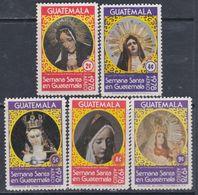 Guatemala PA N° 637 / 41 X : Semaine Sainte ( II ). La Série Des 5 Valeurs Trace De Charnière Sinon TB - Guatemala