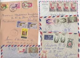 Lot De 35 Enveloppes Avec Timbres Du TOGO Après L'Indépendance Affranchissements Très Varié - Togo (1960-...)