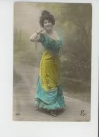 FEMMES - FRAU - LADY - Jolie Carte Fantaisie Portrait Femme Artiste Espagnole - Femmes