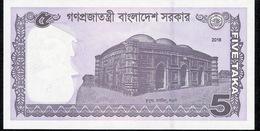 BANGLADESH P64Aa 5 TAKA 2016 UNC. - Bangladesh