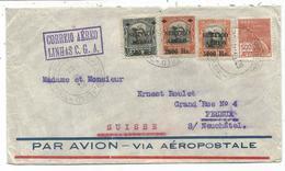 BRASIL DIVERS LETTRE AVION VIA AEROPOSTALE PORTO ALEGRE 13 III.1929 POUR SUISSE - Marcofilia (sobres)