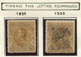 16815 VENEZUELA Collection Vendue Par Page Timbres Pour Lettres Recommandées N°1/2 *   1899-1900   B/TB - Venezuela