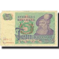 Billet, Suède, 5 Kronor, 1965-1981, KM:51d, TB - Suède
