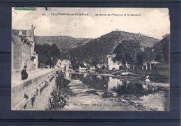 12. Villefranche De Rouergue.les Bords De L'aveyron Et La Calvaireµ. Carte Bien Abimée - Villefranche De Rouergue