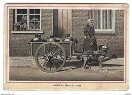LAITIERE BRUXELLOISE - Attelage De Chien - Support Carton épais - 13 X 9 Cm - Années 1900-1910 - Vieux Papiers